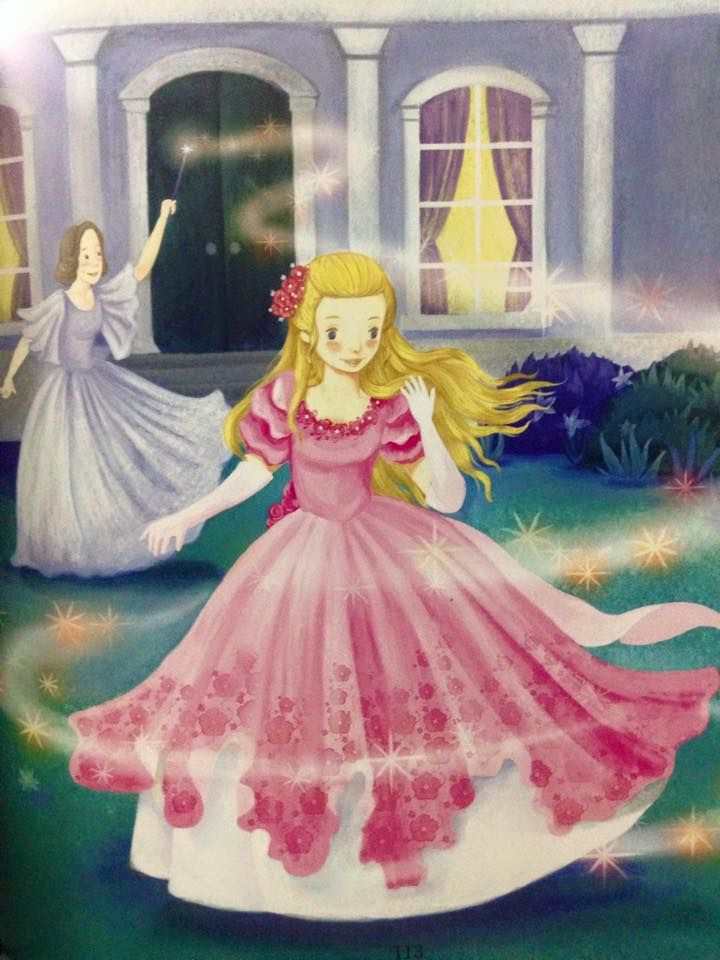 Cinderella S Magical Dress Transformation By Fairy Godmother