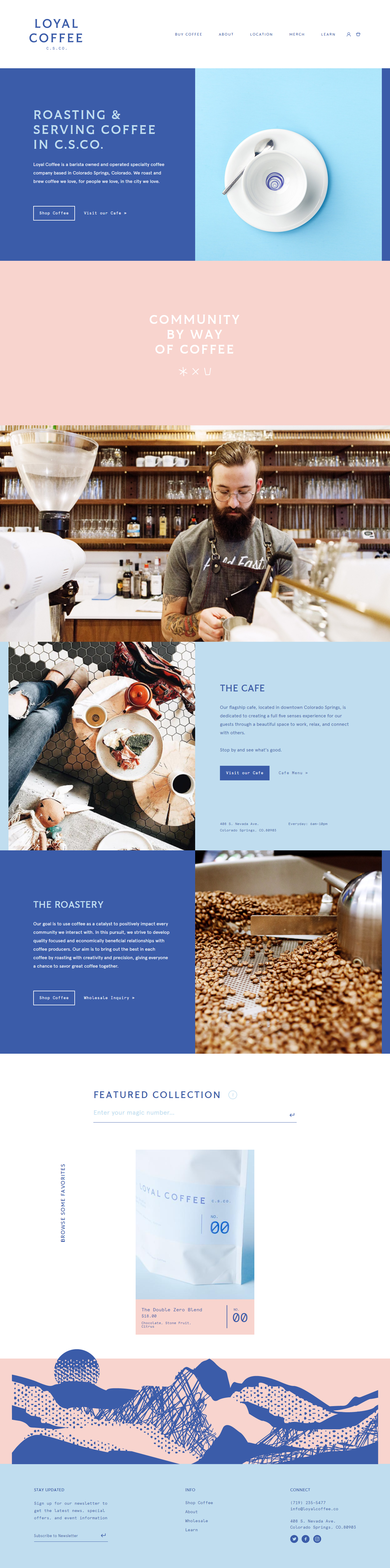 Loyal Coffee Landing Page Design Page Design Landing Page