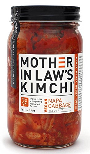 Amazon Com Mother In Laws Kimchi Vegan Napa Cabbage Kimchi 16 Fluid Ounce 6 Per Case Grocery Gourmet Food