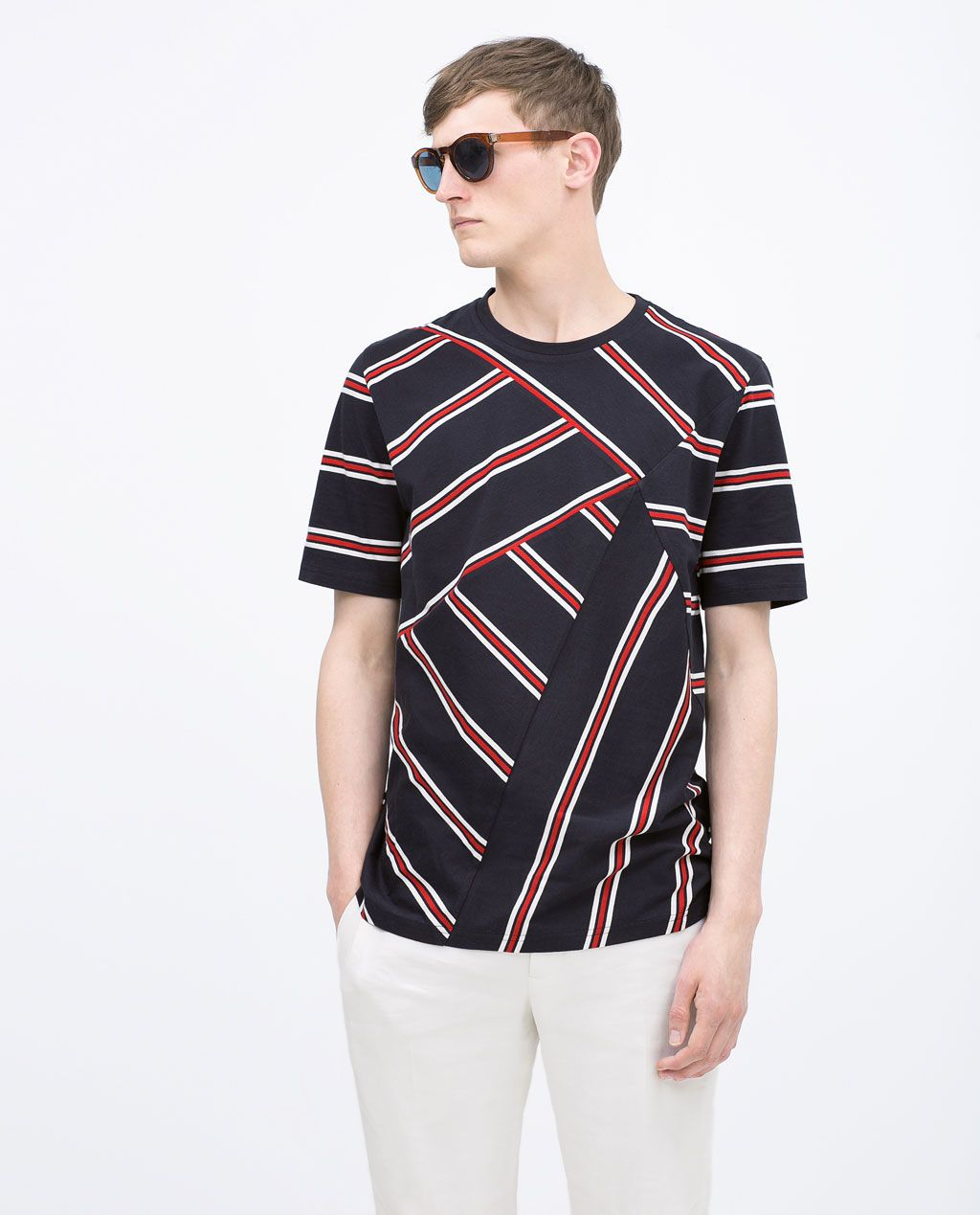 4cabaf45 Image 2 of STRIPED T-SHIRT from Zara | SHOP in 2019 | T shirt, Zara ...