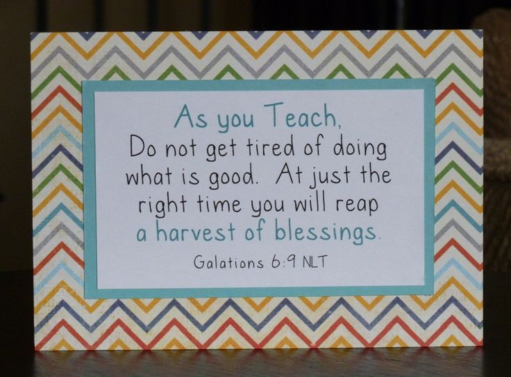 bible verses for teacher appreciation - Google Search | Gifts of ...