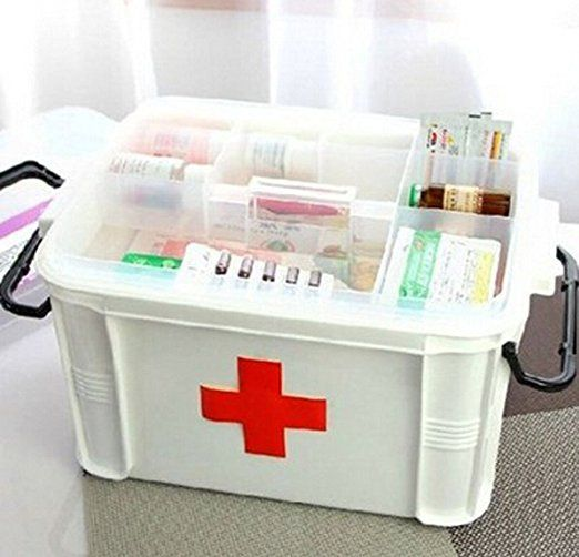Amazon Com Medicine Storage Box Multilayer Medicine Cabinet 33 24 19cm Bedding Bath Medicine Storage Storage Storage Box