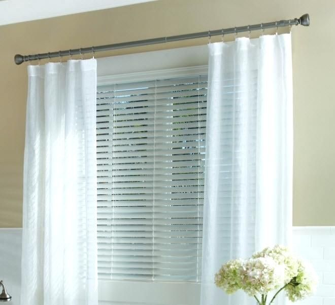Curtains Over Blinds Rods And Curtains Dollar Curtains And