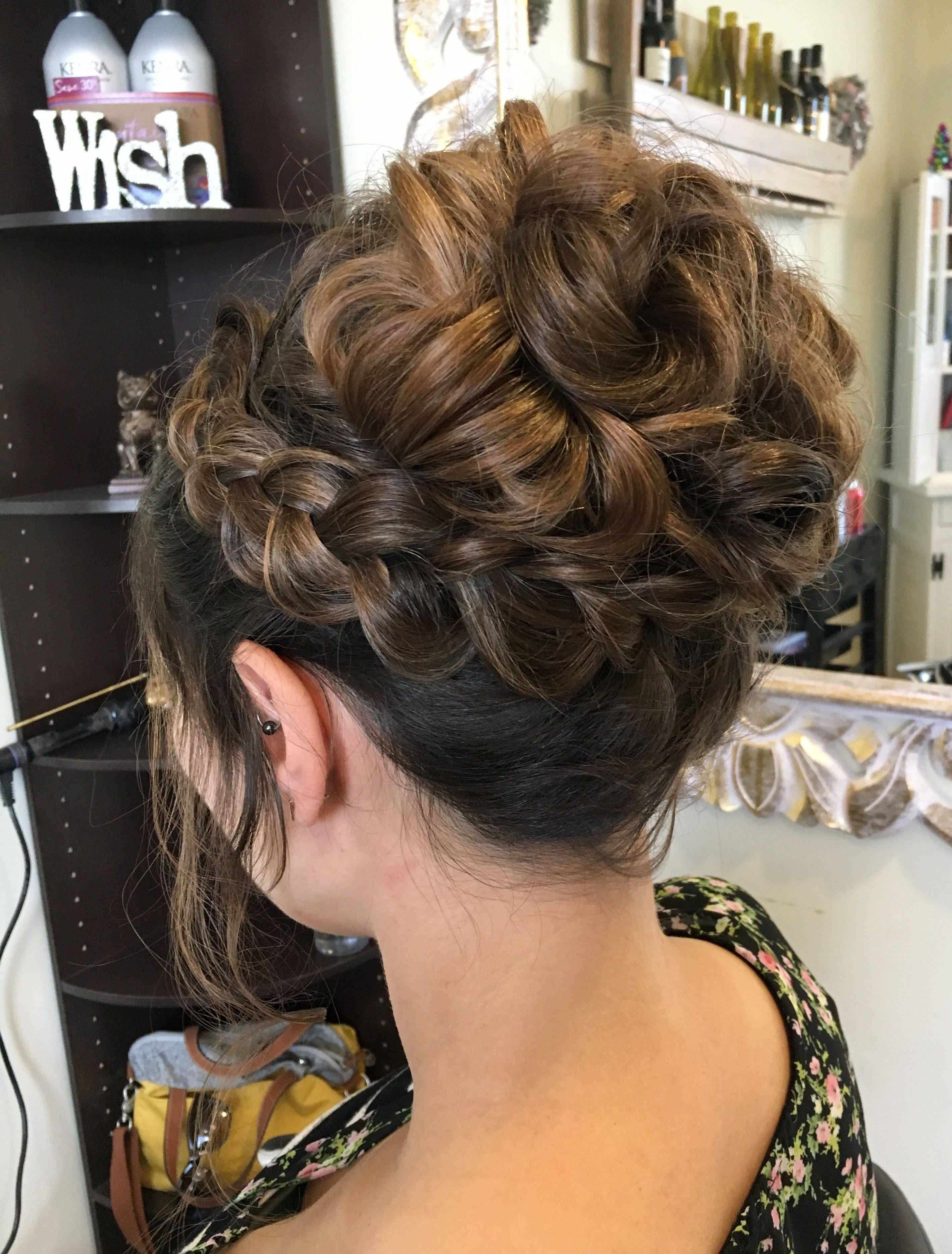 braid with high updo | hairstyles in 2019 | bridal hair updo