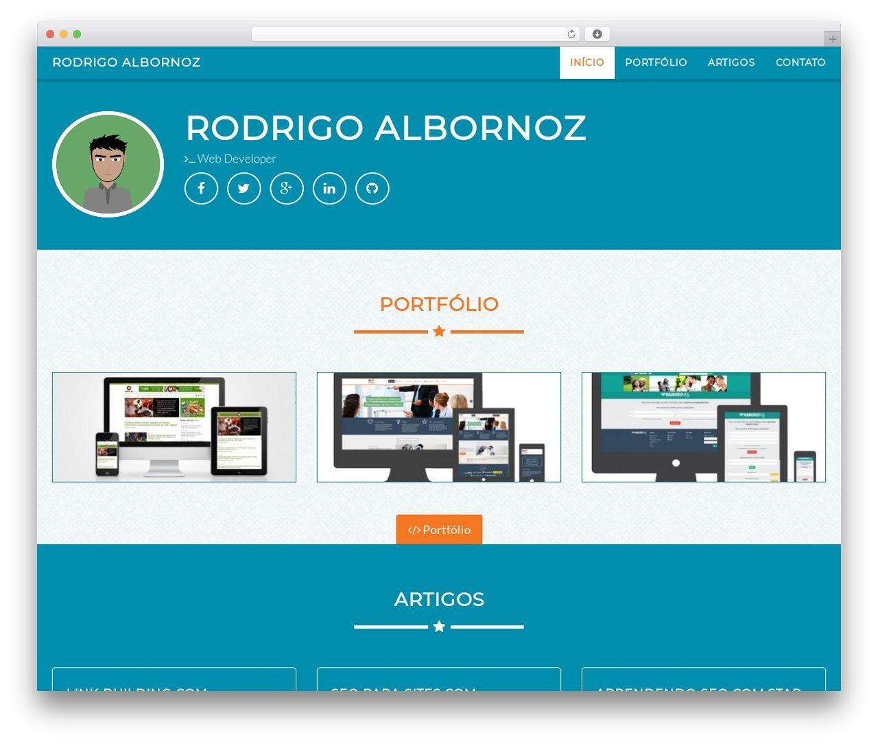Portfolio best portfolio WordPress theme - rodrigoalbornoz.com ...