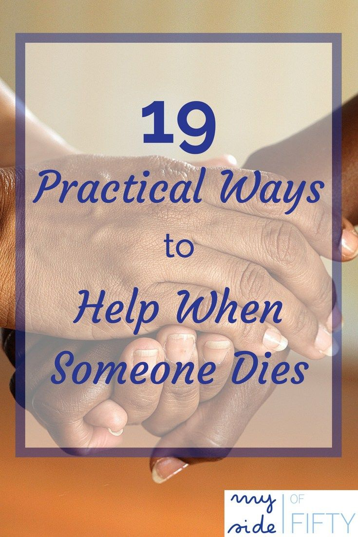 How to Help when Someone Dies