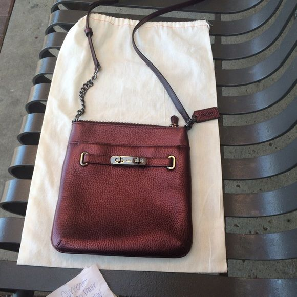 Coach Pebble Cross body Used once and bought at Von Maur Coach Bags Crossbody Bags