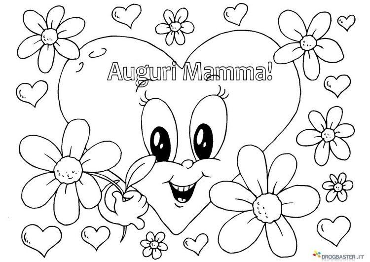 Auguri Mamma Disegni Per Bambini Da Stampare E Colorare Mamma