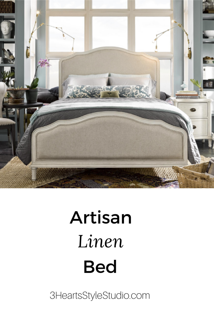 Furniture Collections Denver, Colorado- Linen and White King Bed ...