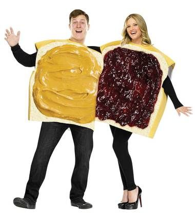 Peanut Butter And Jelly Couple Adult Costume Peanut butter - cool halloween costume ideas for guys