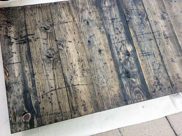 Perfect Tutorial For Distressing And Antiquing New Wood.