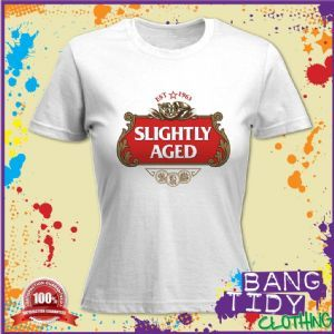 SLIGHTLY AGED 1963 50th BIRTHDAY WOMANS T SHIRT Our Price 1097
