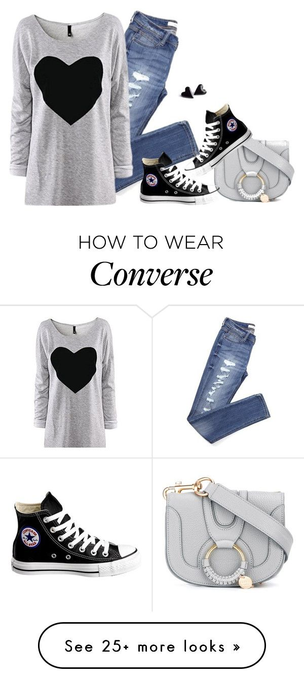 """Converse"" by tina-pieterse on Polyvore featuring See by Chloé and Converse"