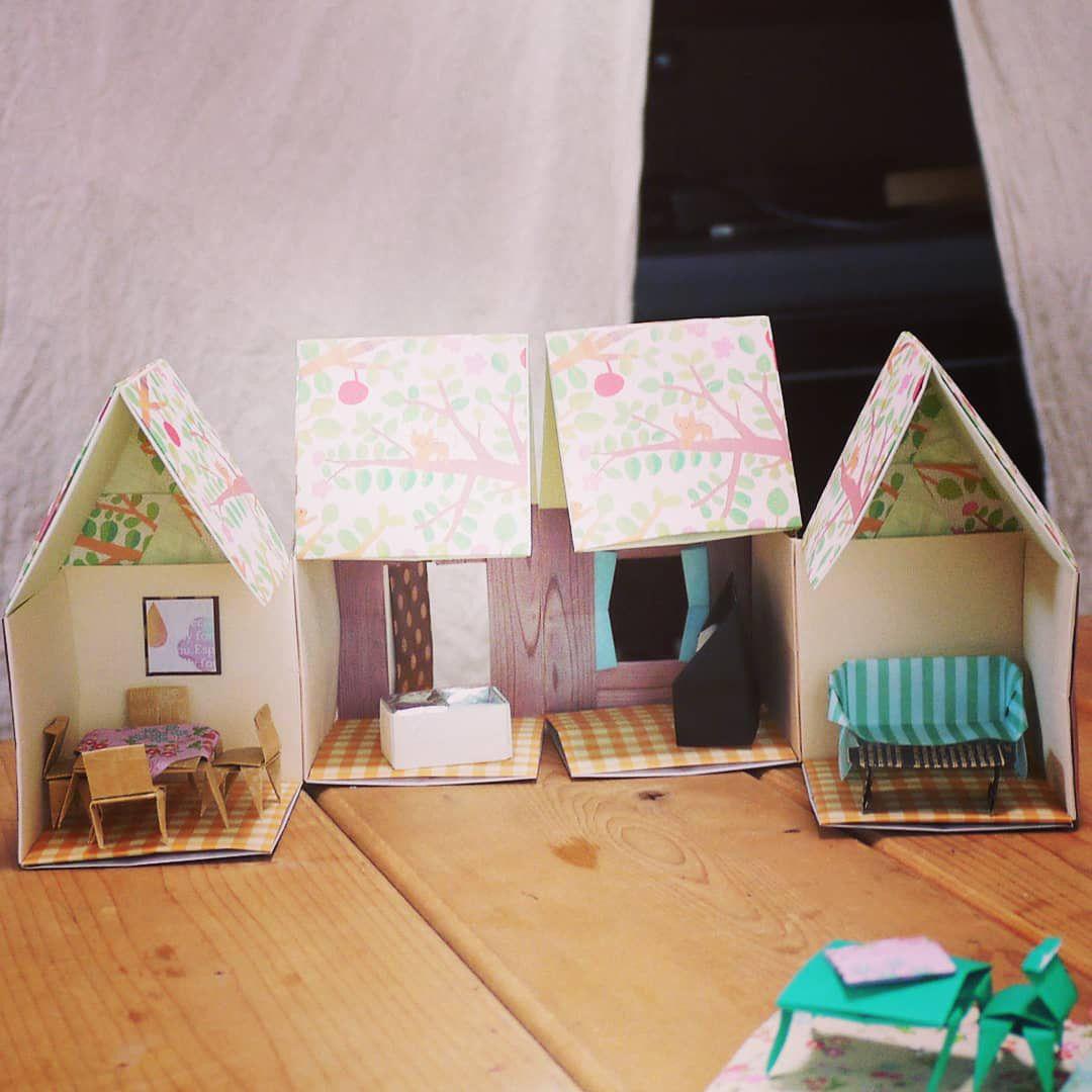 折り紙でドールハウス 画像あり ドールハウス 折り紙 ハウス