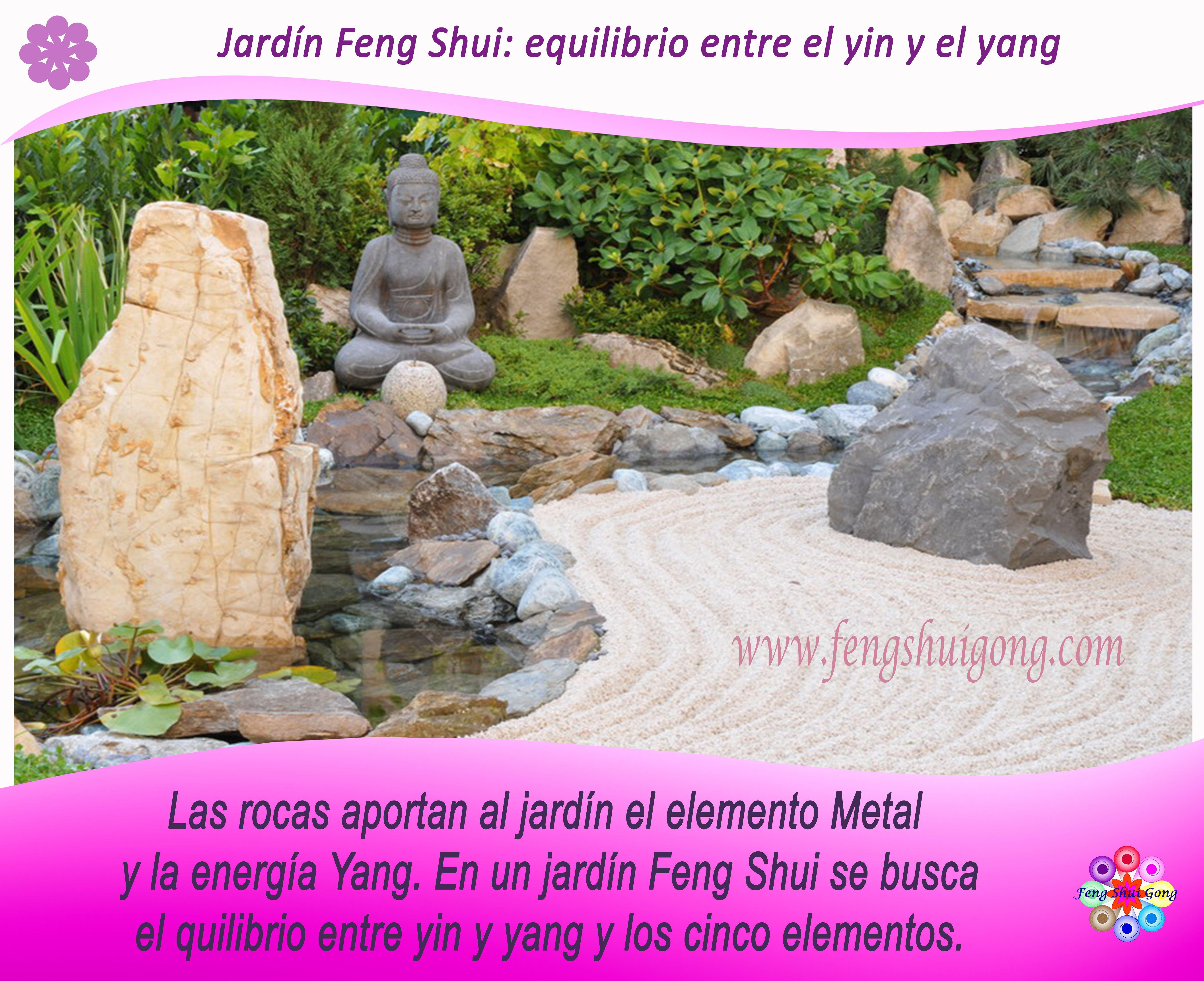 En un jard n feng shui se busca el equilibrio entre el yin for Jardin feng shui