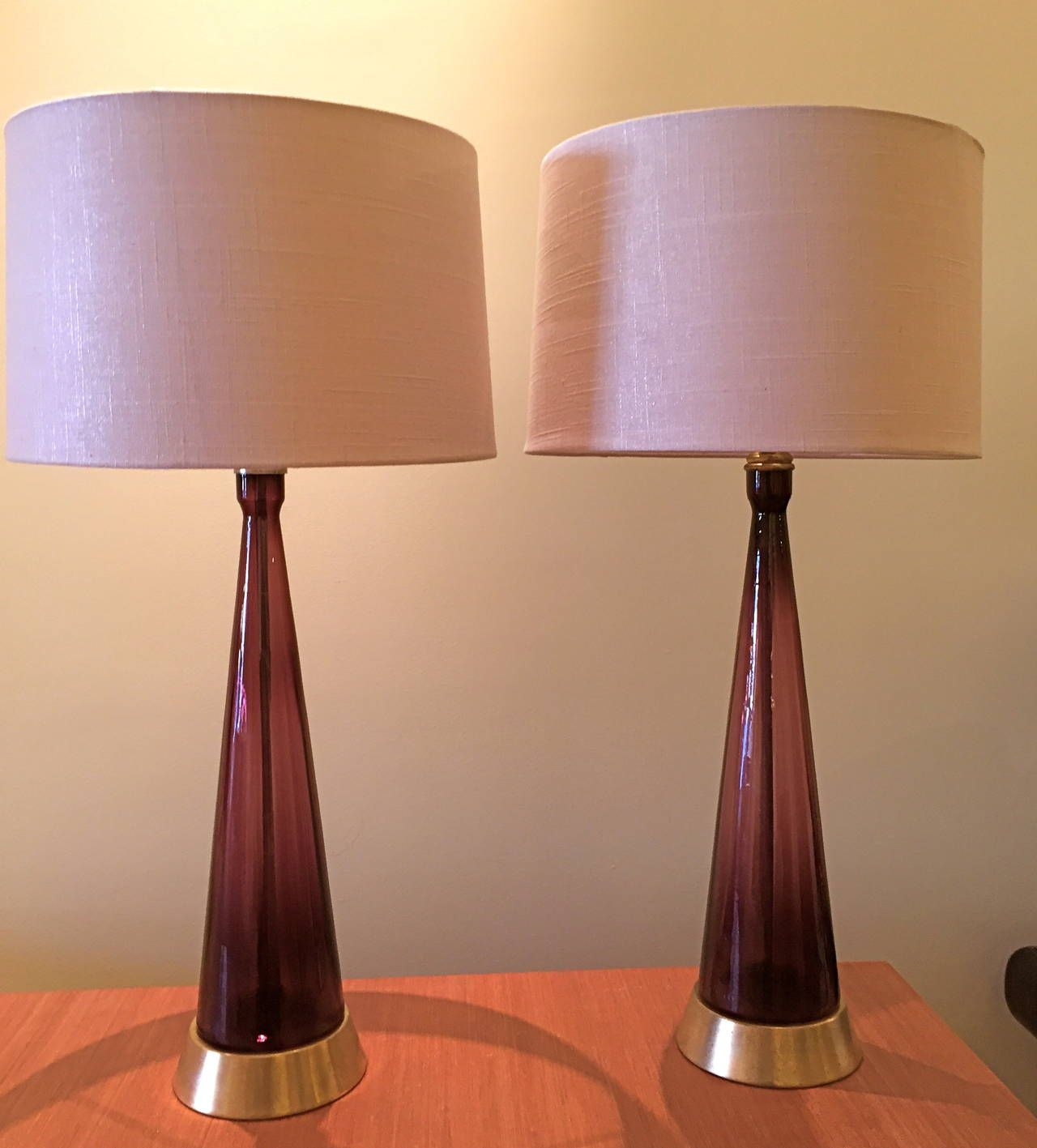 Pair of Amethyst Colored Blenko Glass Table Lamps | Amethyst color ...