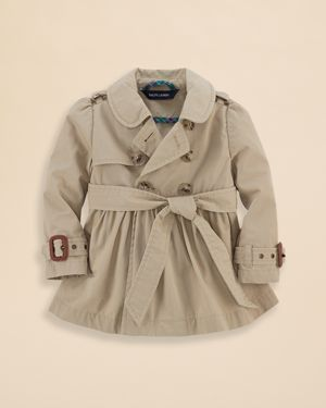 19563155b Ralph Lauren Childrenswear Infant Girls  Classic Trench Coat - Sizes ...