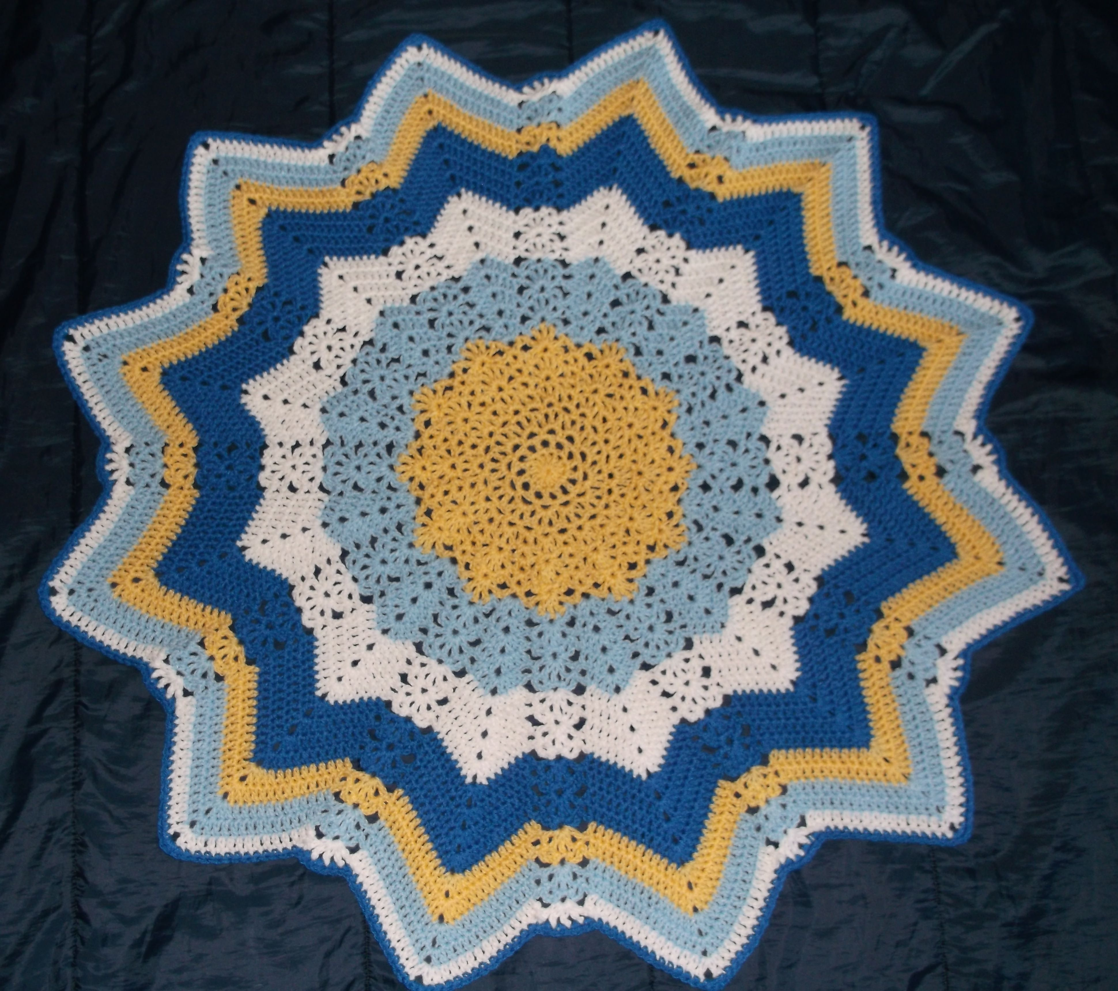 Lacy round ripple crochet afghan httpblogsetuckerknit find this pin and more on crochet afghans blankets bankloansurffo Images