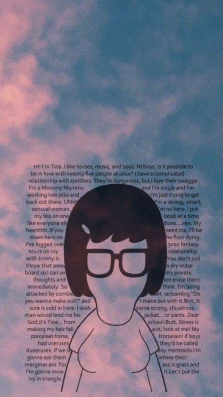 hi i'm tina… bob's burgers iphone wallpaper | random wallpaper