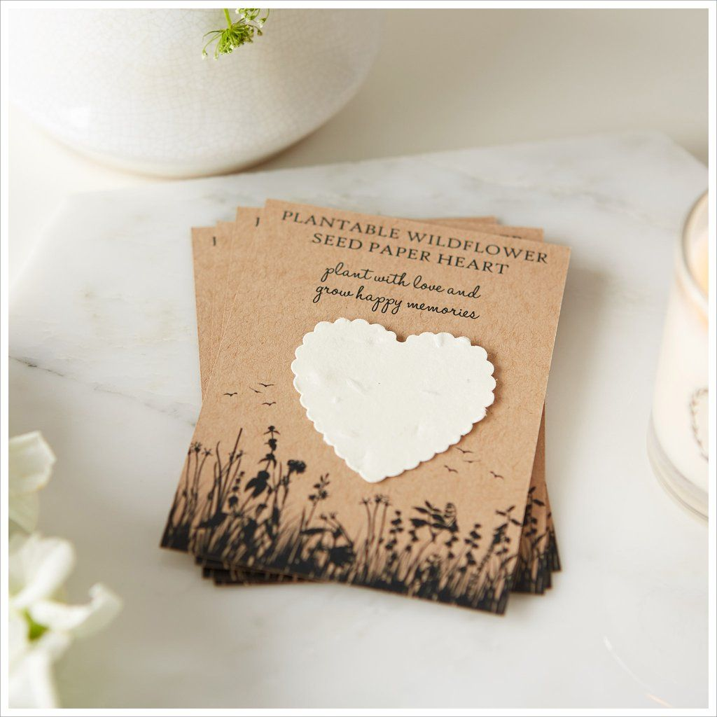 10 x Wildflower Seed Wedding Favours Packets Table Guest Favours Plantable