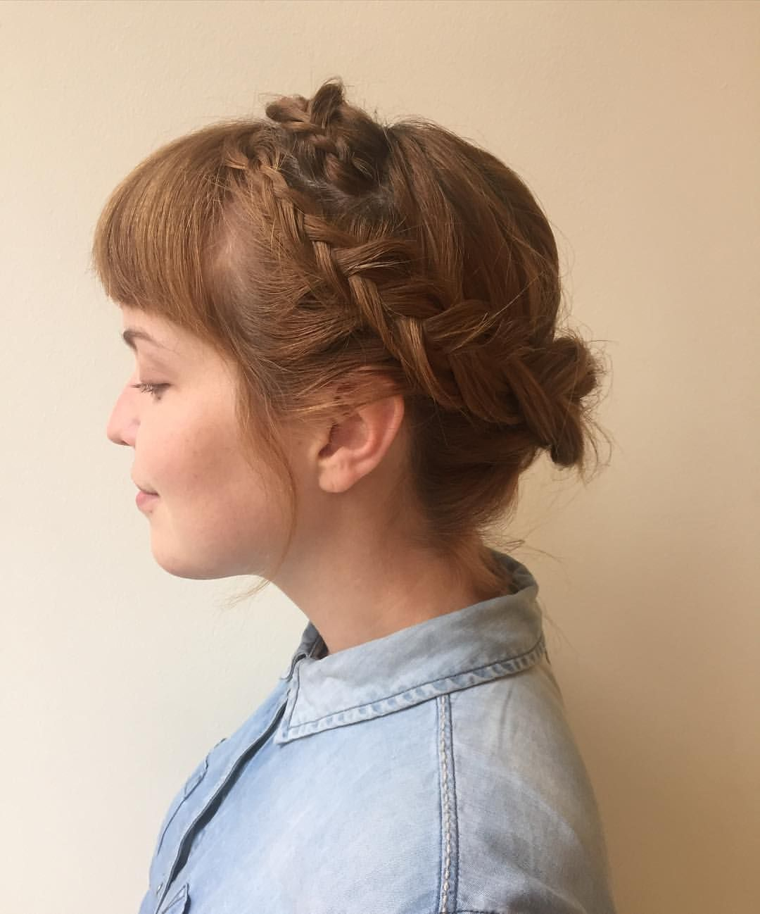 a fishtail crown braid for the birthday girl | hair + makeup
