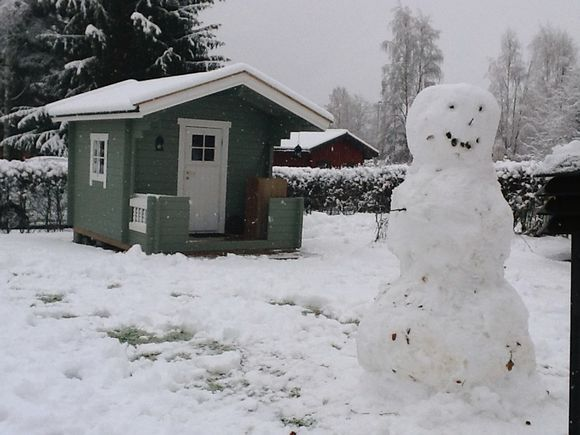 Lumiukko Iisalmessa.