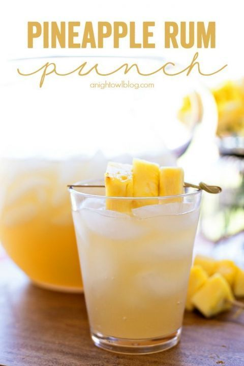 Pineapple Rum Punch Recipe Pineapple Rum Yummy Drinks Alcohol Recipes