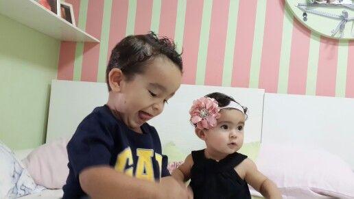 Tenpo de brincar....Rafael e Luiza.