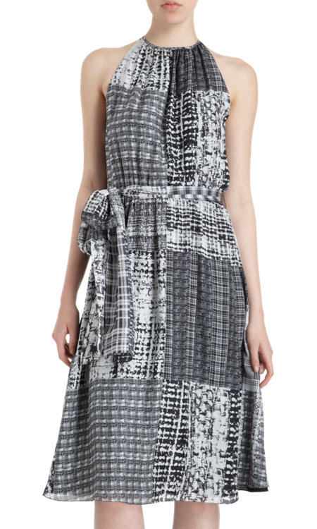 L'Agence Patchwork Print Dress