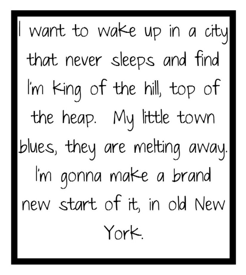 Frank Sinatra New York New York Song Lyrics Music Great Song Lyrics Frank Sinatra Lyrics Song Lyrics Art