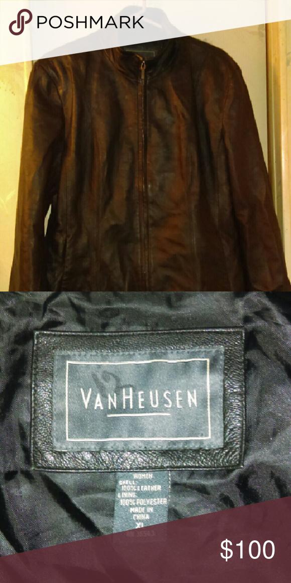 Van Heusen Women's Leather Jacket Van Heusen Black Women's Leather Jacket Van Heusen Jackets & Coats Blazers