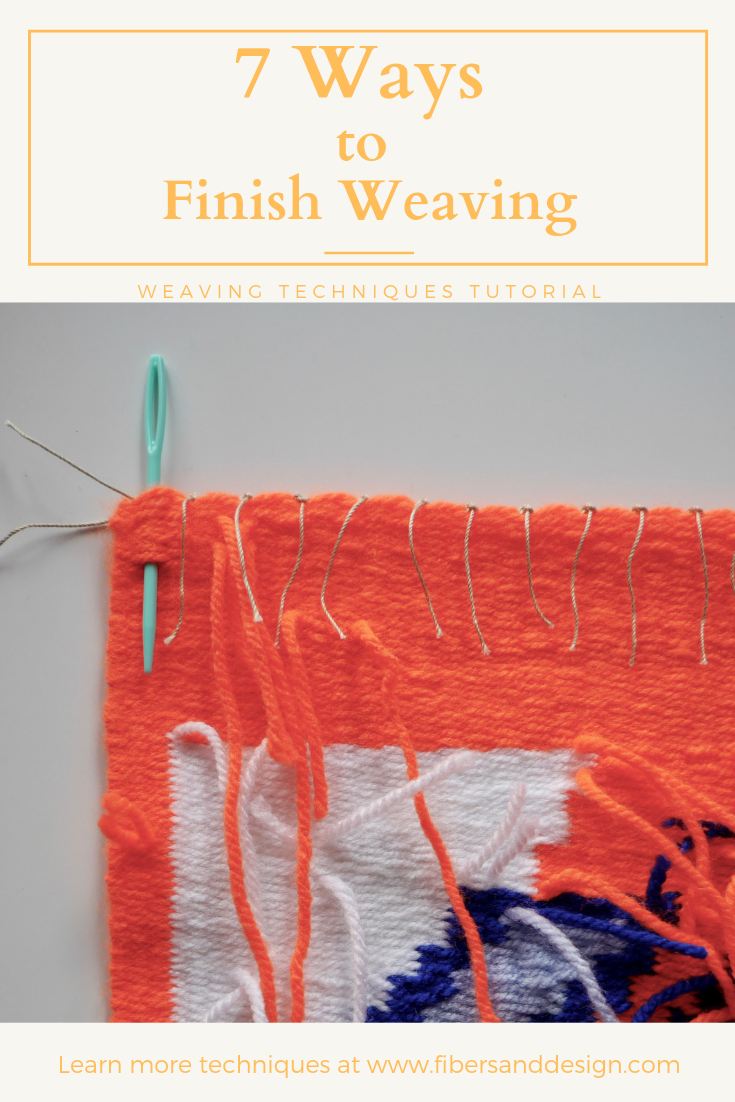 Learn how to finish weaving ends and hang woven wall hangings.