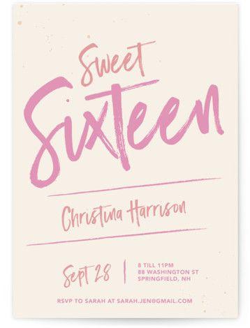 Sweet And Sassy Sixteen Sweet Sixteen Party Invitations