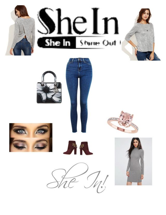 """She in"" by empero ❤ liked on Polyvore featuring Topshop, Aquazzura, Christian Dior and BlendShe"