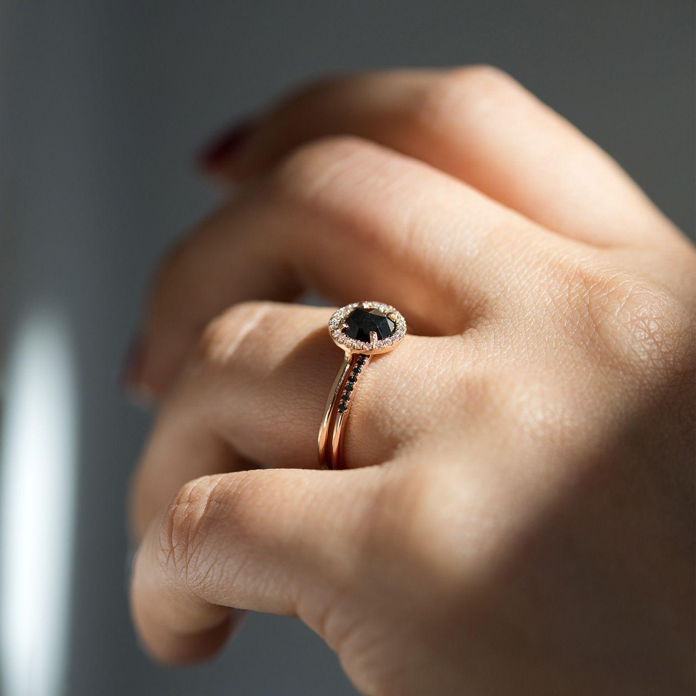 Black Diamond Aura Ring Black diamond ring engagement