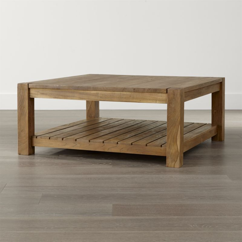 Edgewood Square Coffee Table Crate And Barrel Coffee Table