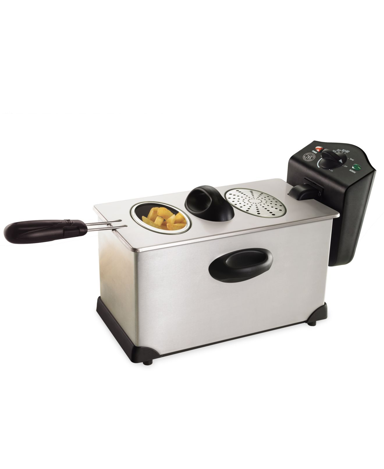 13401 3.5L Stainless Steel Deep Fryer Health cooking