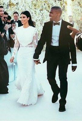Traje de boda de kim kardashian