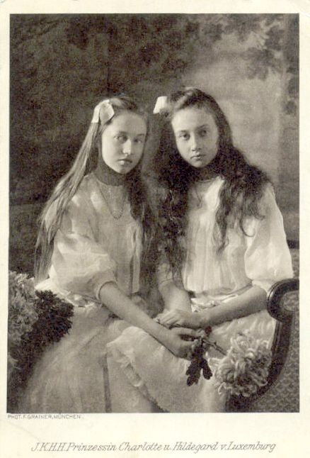 HRH Princesses Hildegard and Charlotte of Luxembourg