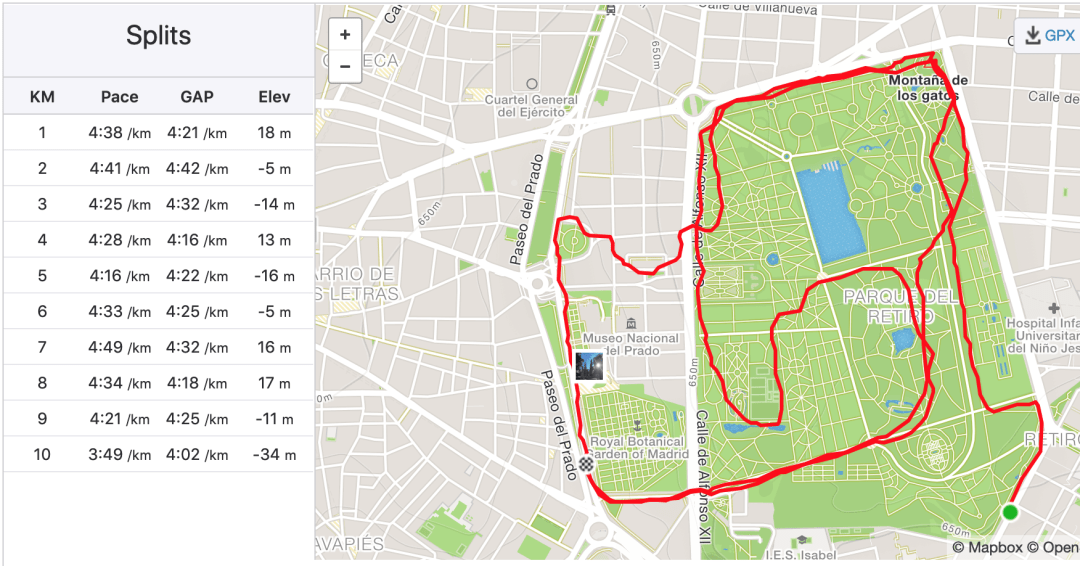 10km in 45mins
