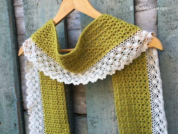 Crochet Lace Scarf | Crochet - Scarf / Foulard | Pinterest | Bufanda ...