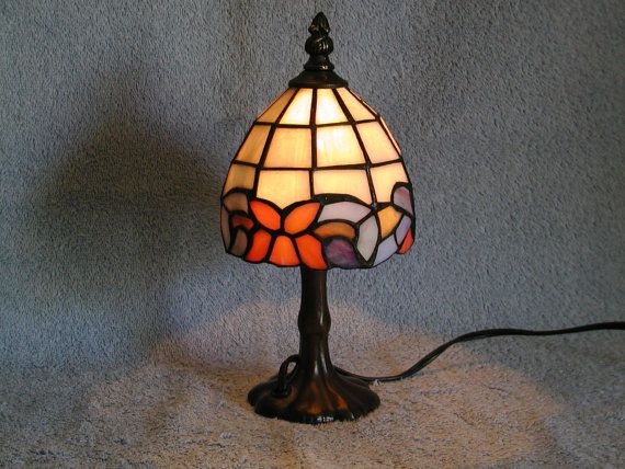 Stained Glass Lamp  Accent Lamp by SandECollectibles on Etsy