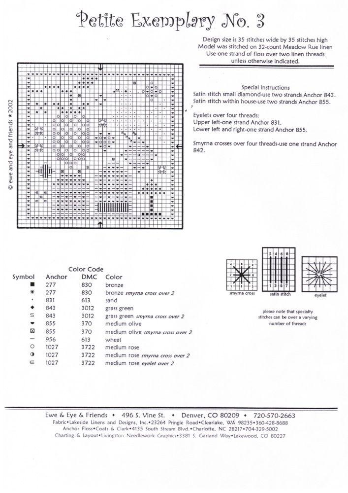 Petite Exemplary No 3 Cross Stitch Patterns Pinterest Cross