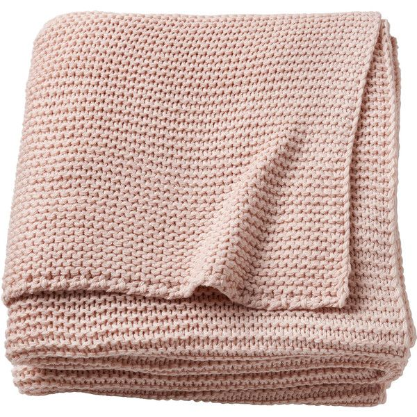 Blush Pink Throw Blanket Игабритта $33 ❤ Liked On Polyvore Featuring Blush Pink Blanket
