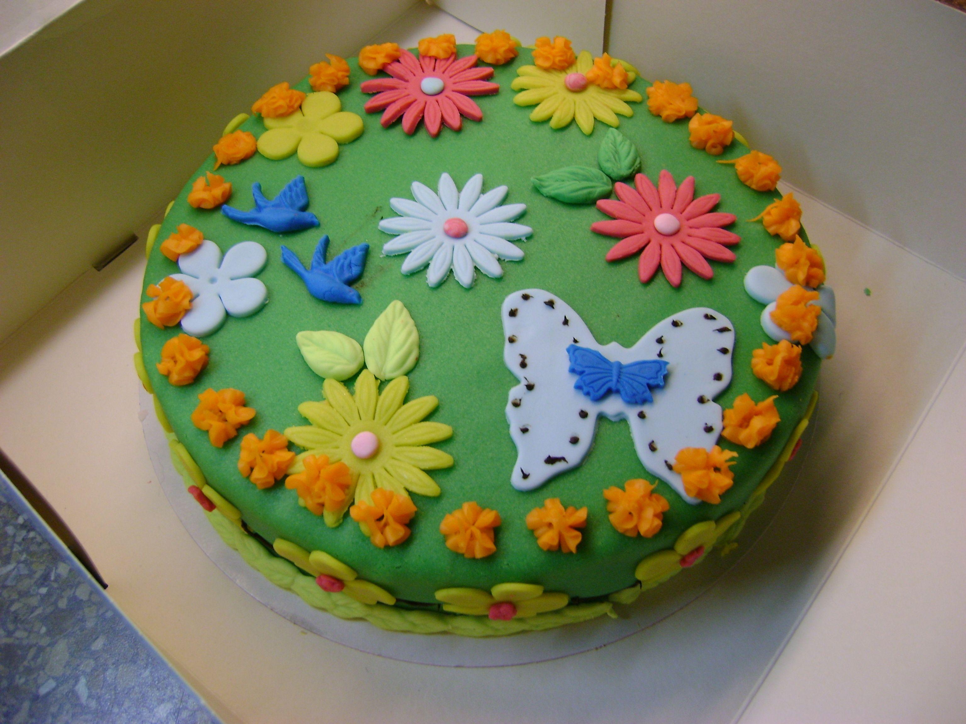 marzipan decorated cake