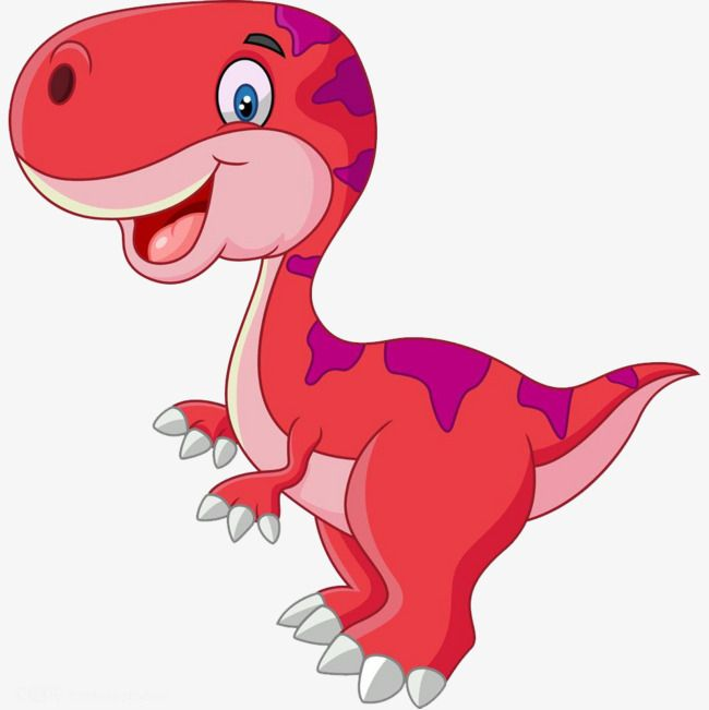 Cute Cartoon Pink Dinosaurs Jurassic Dinosaur Cartoon Png