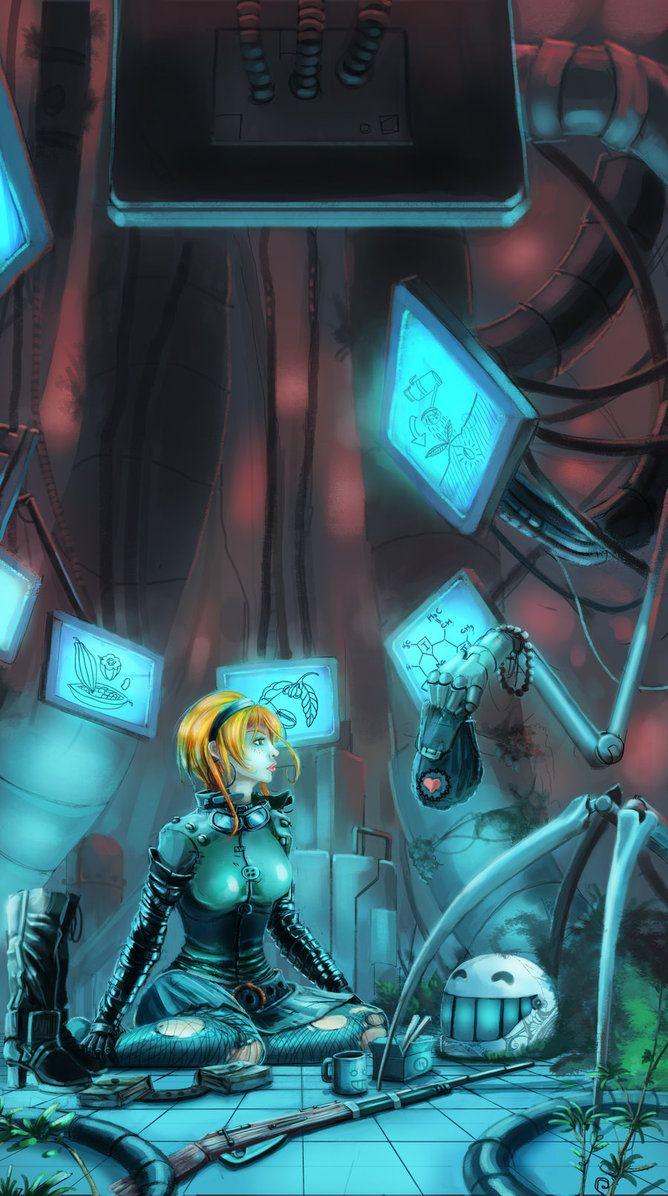 Constructive Gentleness by *Paperheadman, cyberpunk ...