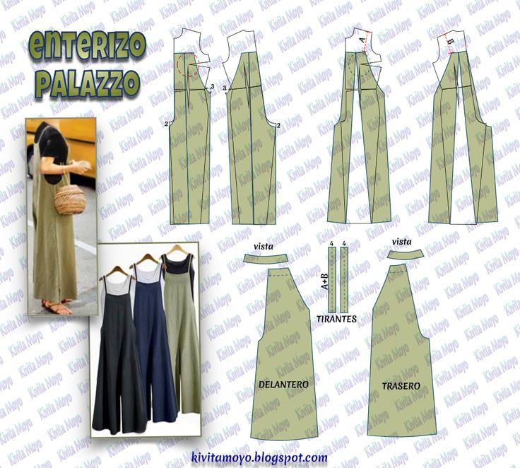 KiVita MoYo: ENTERIZO PALAZZO – # couture #Costurafacil #Moldesdevestidos #Patro …   – Best Pins