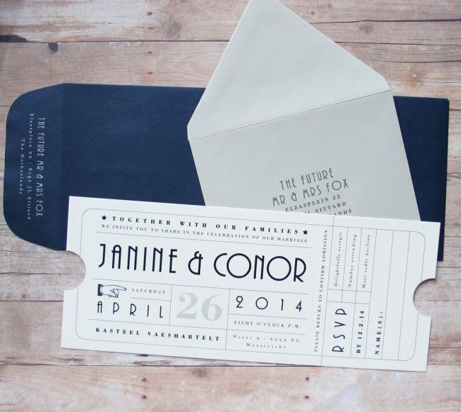 Las invitaciones de boda más originales para 2015: Tendencias impresas que te encantarán Image: 7