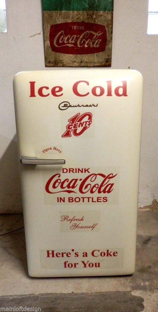 Bauknecht Coca Cola Retro 50er 60er Kühlschrank Diner Lounge Hot Rod Harley